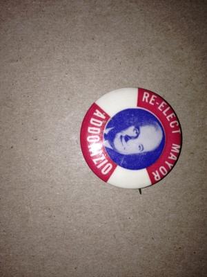 Addonizio Re-election Button