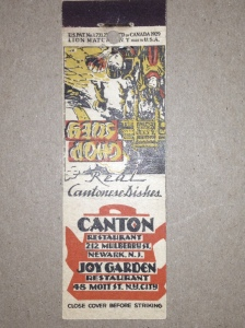 Canton Restaurant Matchbook