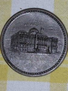City Hall Dedication Medal (back)