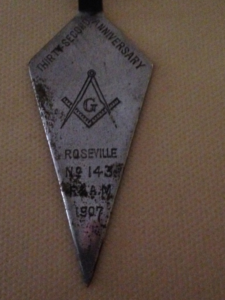 Closeup of trowel