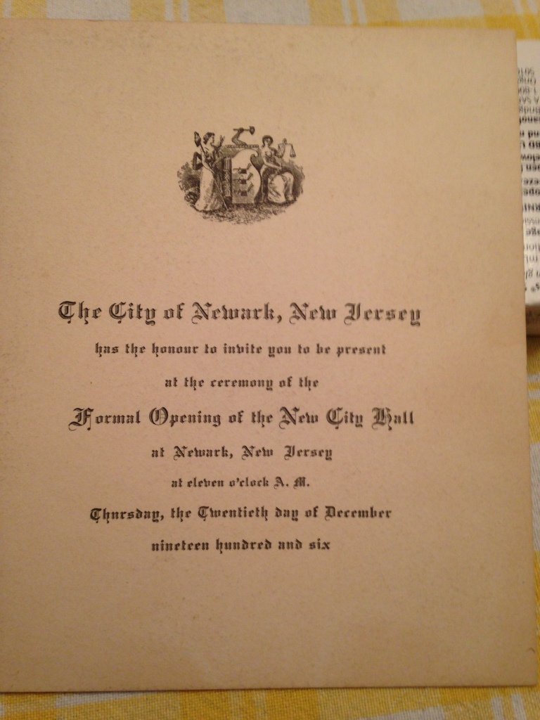 Invitation to Openining of New City Hall-1906